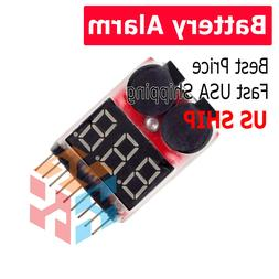 RC Lipo Battery Low Voltage Alarm 1S-8S Buzzer Indicator Che