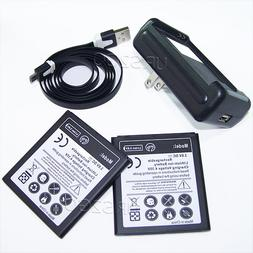 2x 3400mAh Replacement Battery Special Travel Dock Home Quic