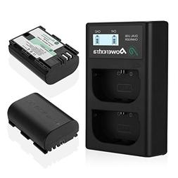 Powerextra 2 Pack Replacement Canon LP-E6 Battery & Dual Bat