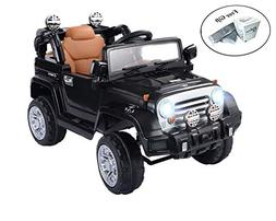 COSTWAY 12 V Kids Ride on Truck with MP3 + LED Lights - Blac