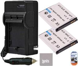 Pack of 2 SLB-07A Batteries And Battery Charger for Samsung