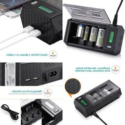 EBL LCD Smart Battery Charger for C/D/9V/AA/AAA Rechargeable