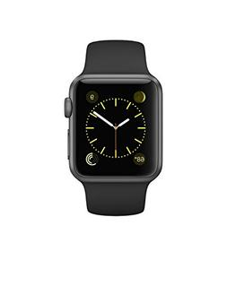 Apple Watch Series 1 38mm Space Gray Aluminum with Black Spo