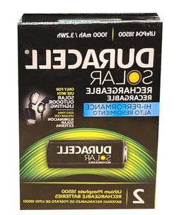 Duracell Solar Rechargeable Batteries Life PO4 18500
