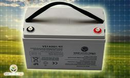 Solar Specific 100Ah 12V Volt  Deep Cycle AGM Battery Rechar
