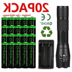 T6 LED Flashlight +18650 Li-ion Battery Rechargeable Batteri