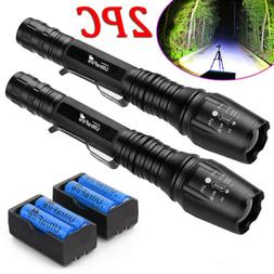 Tactical 90000LM T6 LED Zoom Super Bright Flashlight Torch+1