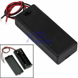 Twin/2X AAA DIY Battery Holder Case Box 3V With Power Switch
