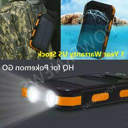 USA Waterproof 500000mAh 2 USB Portable Solar Battery Charge