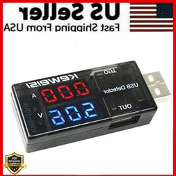 USB Charger Doctor Current Voltage Detector Battery Voltmete