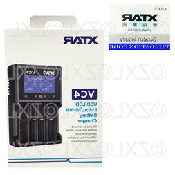 Xtar VC4 USB Battery Charger LCD Display Li-ion Ni-MH 14500