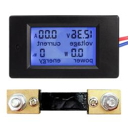 Voltage Current Power Energy Combo Meter Car Battery Monitor