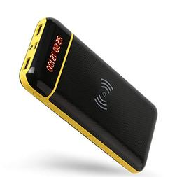 Wireless Charger Mobile Power, 20000mAh External Battery, Qi