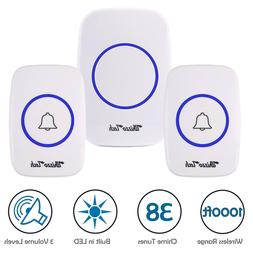 Wireless Doorbell Battery Operated Door Bell 2 Remote Button