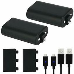 Xbox One Battery Pack 2PCS x 1200 mAh Xbox One Rechargeable